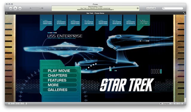Star Trek comes with iTunes-exclusive extras, but bilks fans