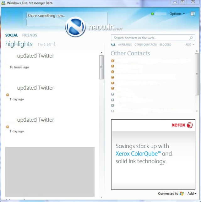 Windows Live Messenger Wave 4 screenshots leaked | Ars Technica