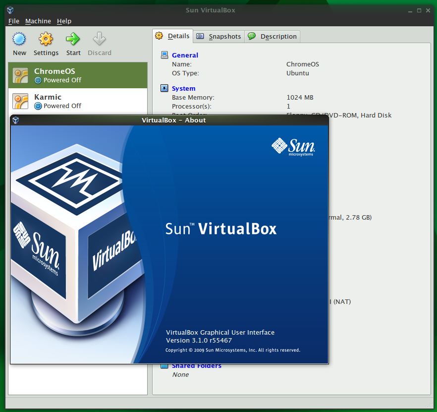 VirtualBox 3.1 adds live migration and branched snapshots