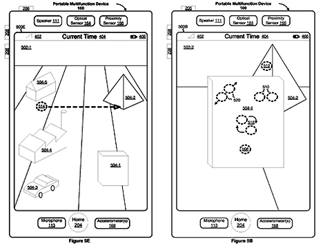 Apple flirts with a 3D interface for mobile devices