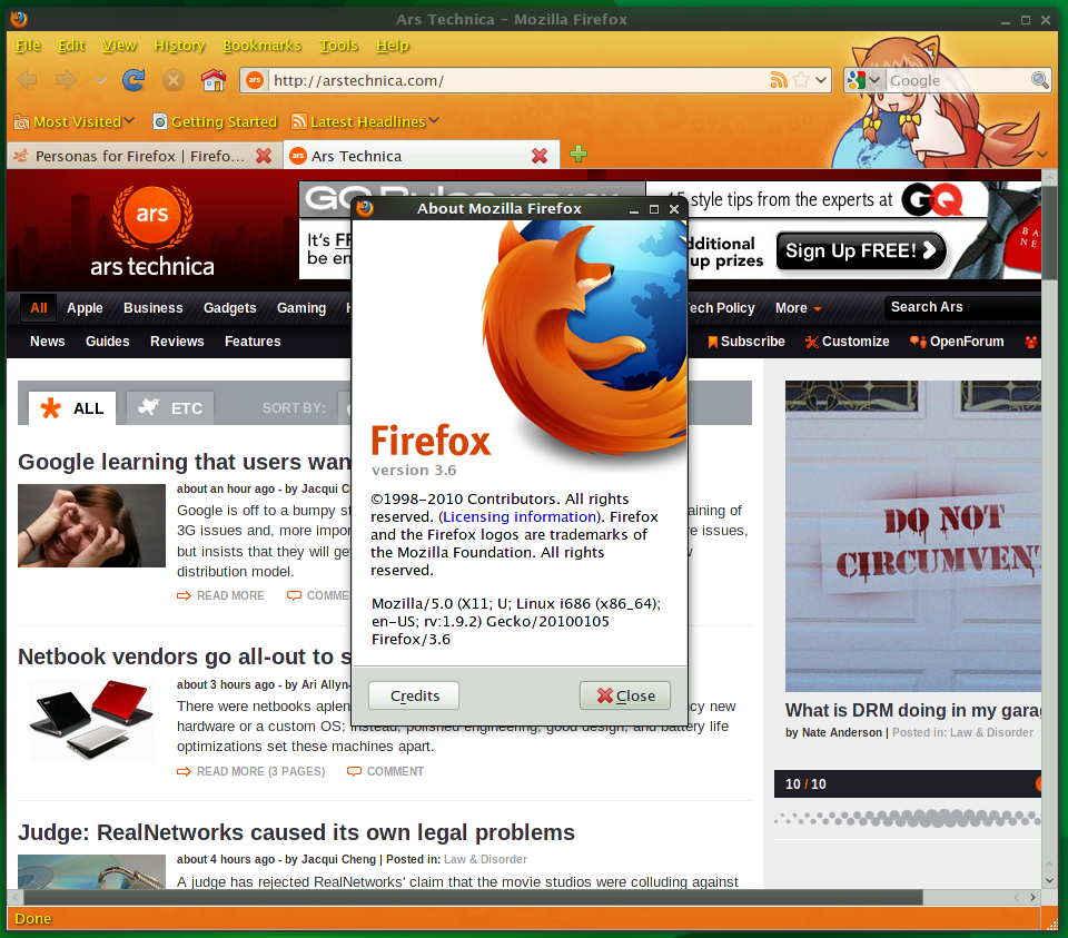 Firefox 3.6 almost ready, release candidate available
