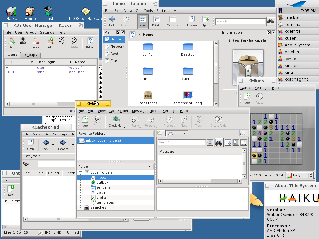 BeOS clone Haiku gains KDE applications