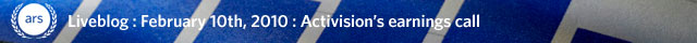Liveblog: Activision Blizzard Q4 and 2009 Earnings Results