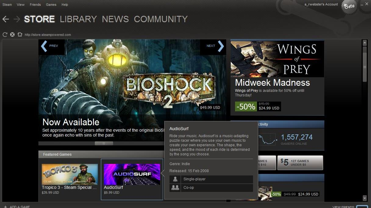 Steam's new look goes into open beta, with a few bumps