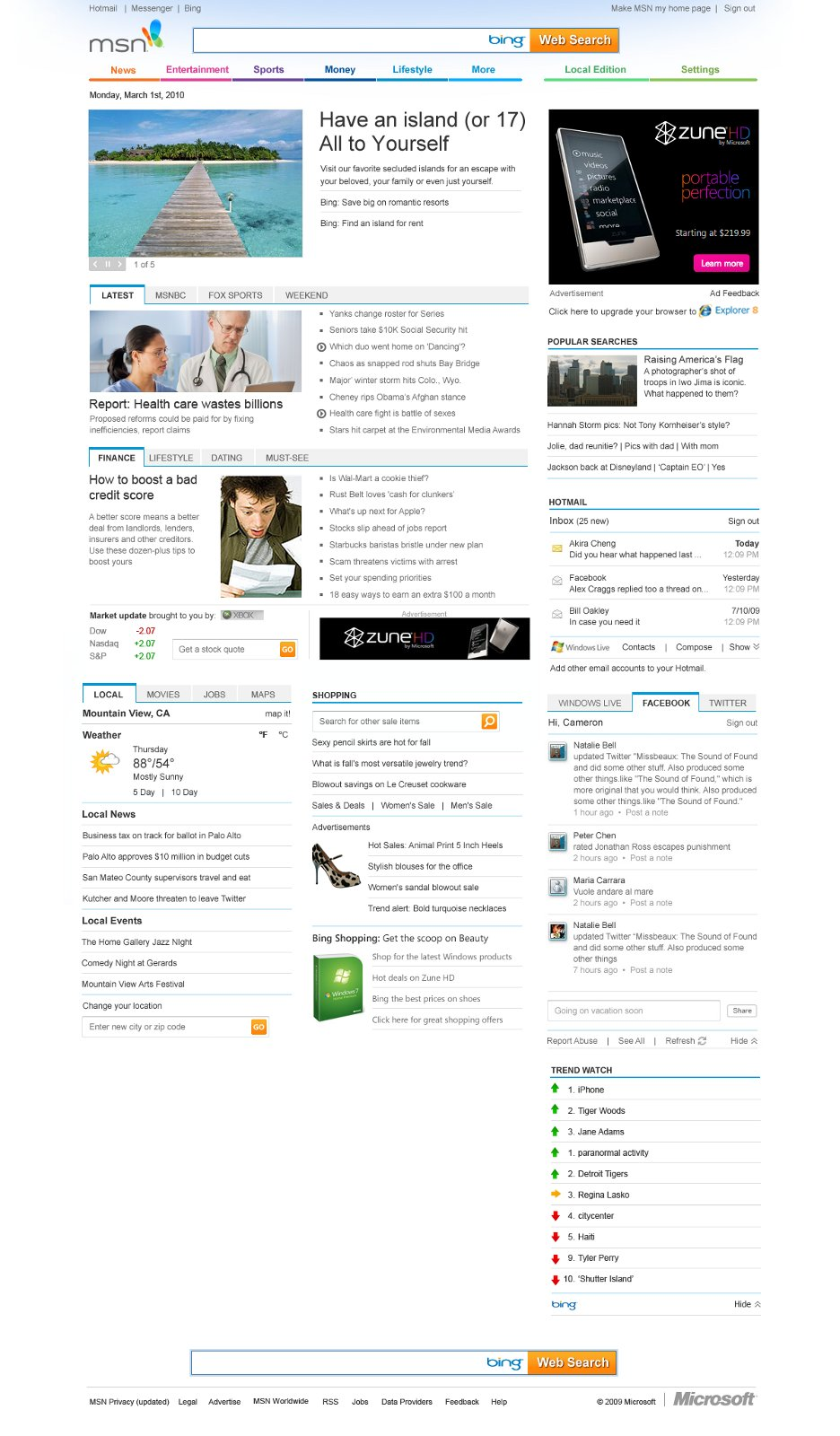 Microsoft begins rolling out redesigned MSN homepage