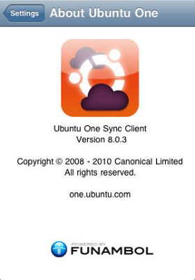 Ubuntu One synchronization app on the iPhone