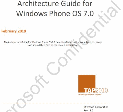 Leaked Windows Phone 7 docs describe updates, customization