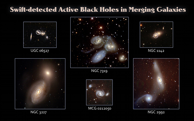 Galaxy collisions give black holes a healthy glow
