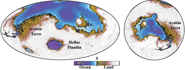 Ocean once covered the northern third of Mars