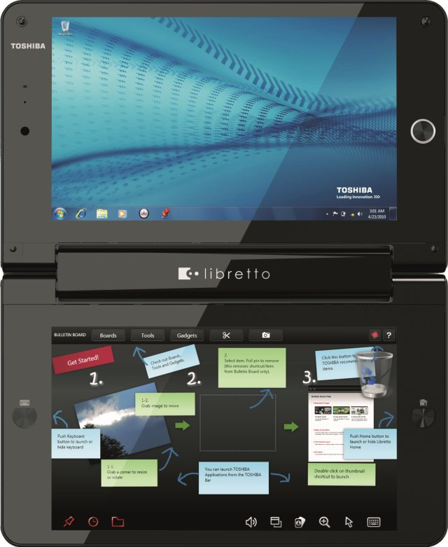 Courier lives, kinda, with new Toshiba dual-screen portable