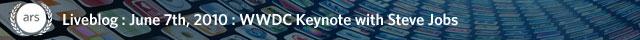WWDC 2010 Steve Jobs keynote liveblog