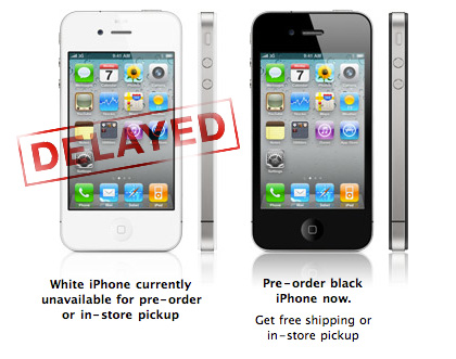 Apple pushes white iPhone 4 to late 2010