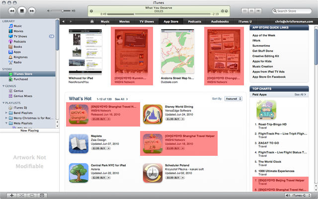 WiiSHii Network's apps are climbing the charts in the travel category.