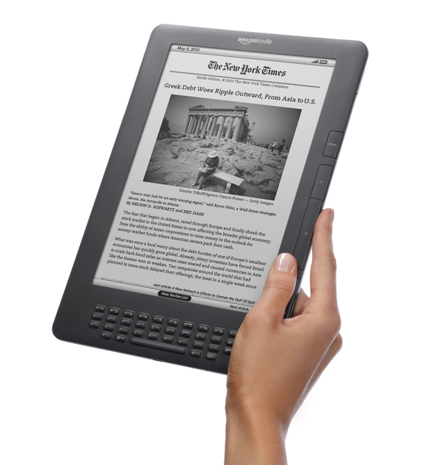 Kindle DX gets better E-Ink screen, lower price