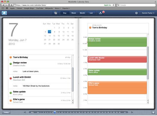 MobileMe Calendar set for iPad-like makeover in new beta