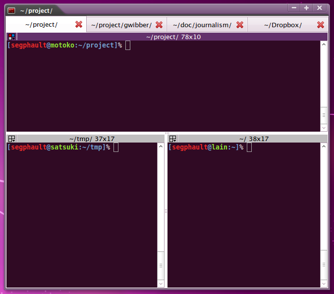 Terminator for GNOME lets users split terminal windows