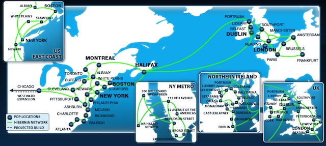 Hibernia Atlantic's current network