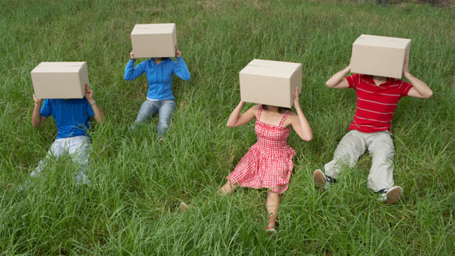 For a creativity boost, think outside the box...literally