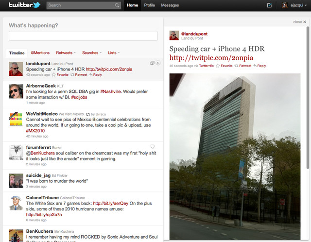 Twitter.com redesign mirrors useful parts of iPad client