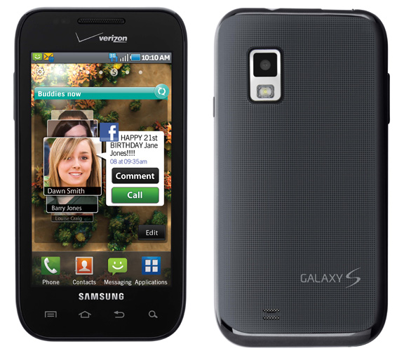Samsung Galaxy S-variant Fascinate launches on Verizon this week