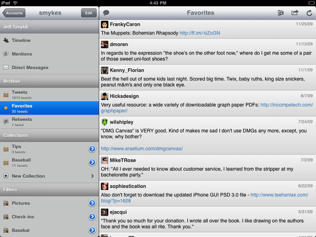 Hands-on: Tweet Library for iPad