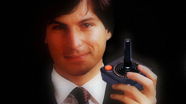 How could you say Steve Jobs is not a gamer? Look at that Atari joystick he's holding!