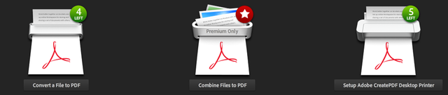 Adobe's new CreatePDF tool