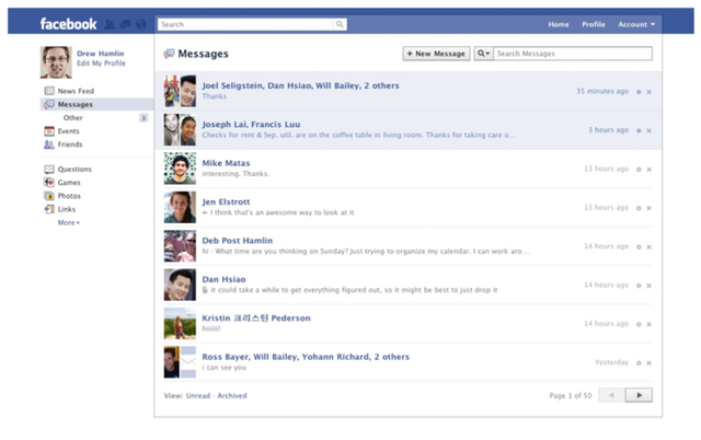 Facebook's new messaging system mashes up SMS, e-mail, IM