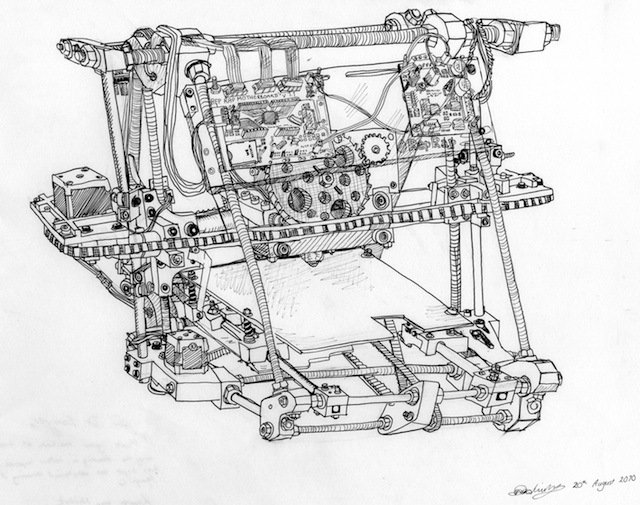 RepRap drawing by Lauren van Niekerk