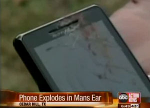 Droid 2 draws blood, allegedly explodes against man's ear