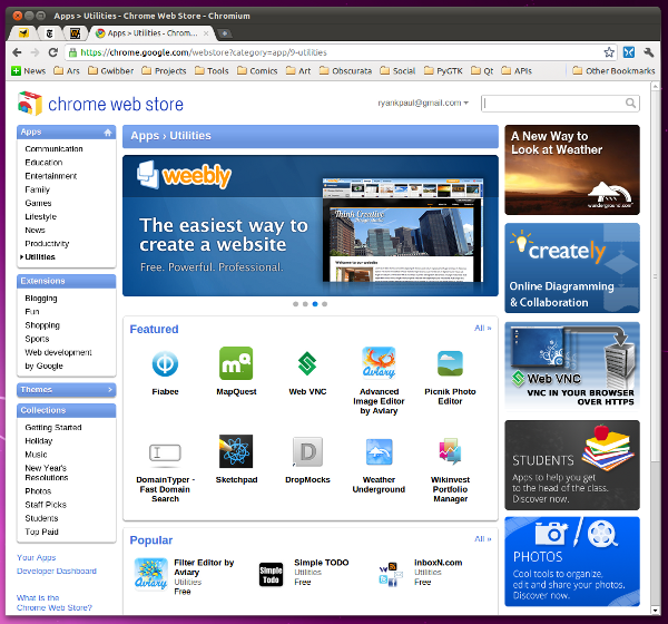 Hands on with Google's Chrome Web Store | Ars Technica