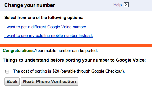 Google Voice tests $20 number porting