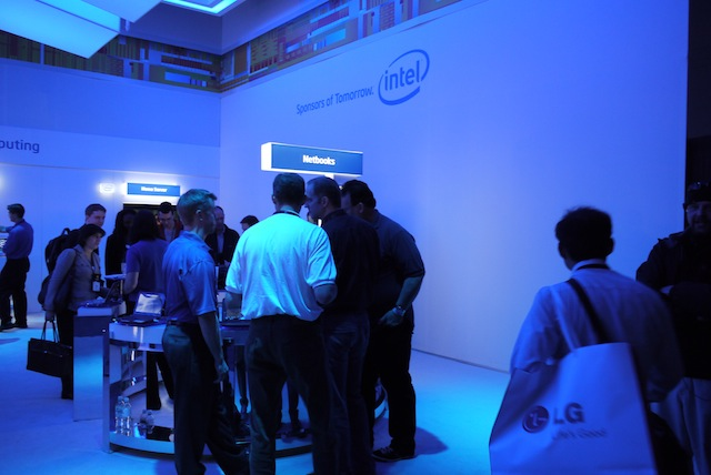 The state of Intel's CES booth: MIDs gone, netbooks down, TVs and tablets up