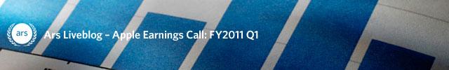 Liveblog: Apple's FY2011 Q1 earnings call