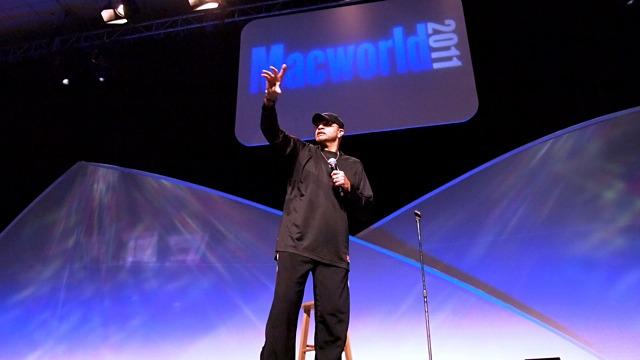 Actor and comedian Sinbad gives a send-up of Apple's Macworld Expo keynotes at Macworld Expo 2011.