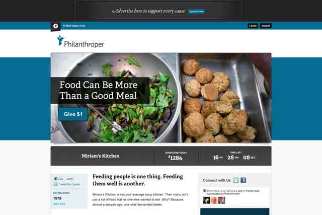 Philanthroper hopes to boost charity of the day, $1 at a time