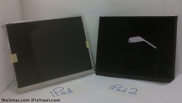 Apparent iPad 2 display thinner, but not