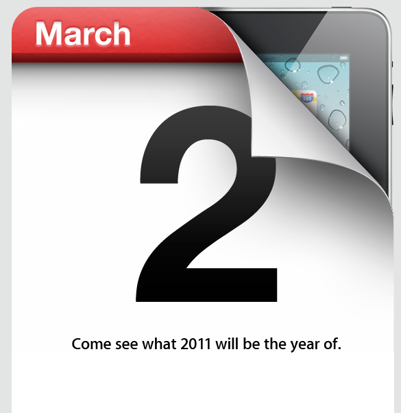 Apple hints at iPad news in March 2 event invitation
