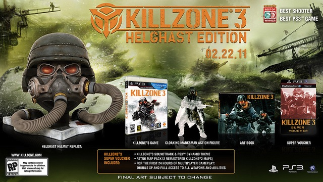 450 Limited Helghast Killzone 3 bundles exist—come win one!