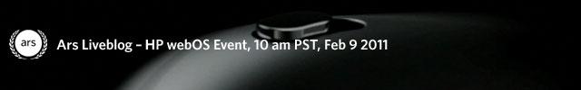 Liveblog: HP's webOS tablet event
