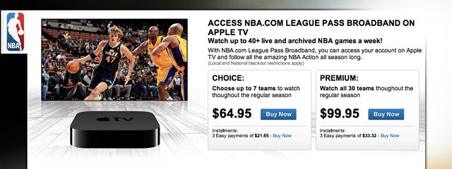 Live MLB and NBA games come to Apple TV via software update