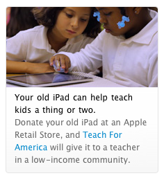 Apple has begun promoting Teach for America on its retail site