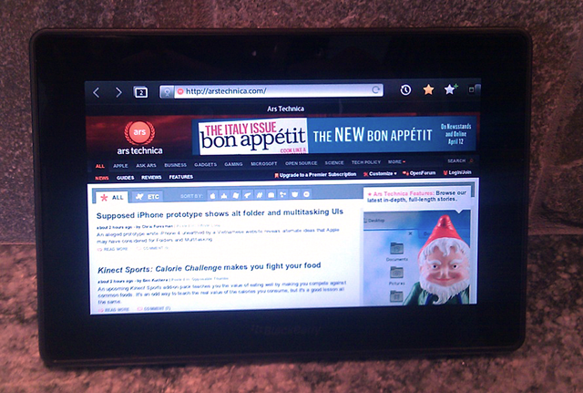 Out of the box: first look at the BlackBerry Playbook