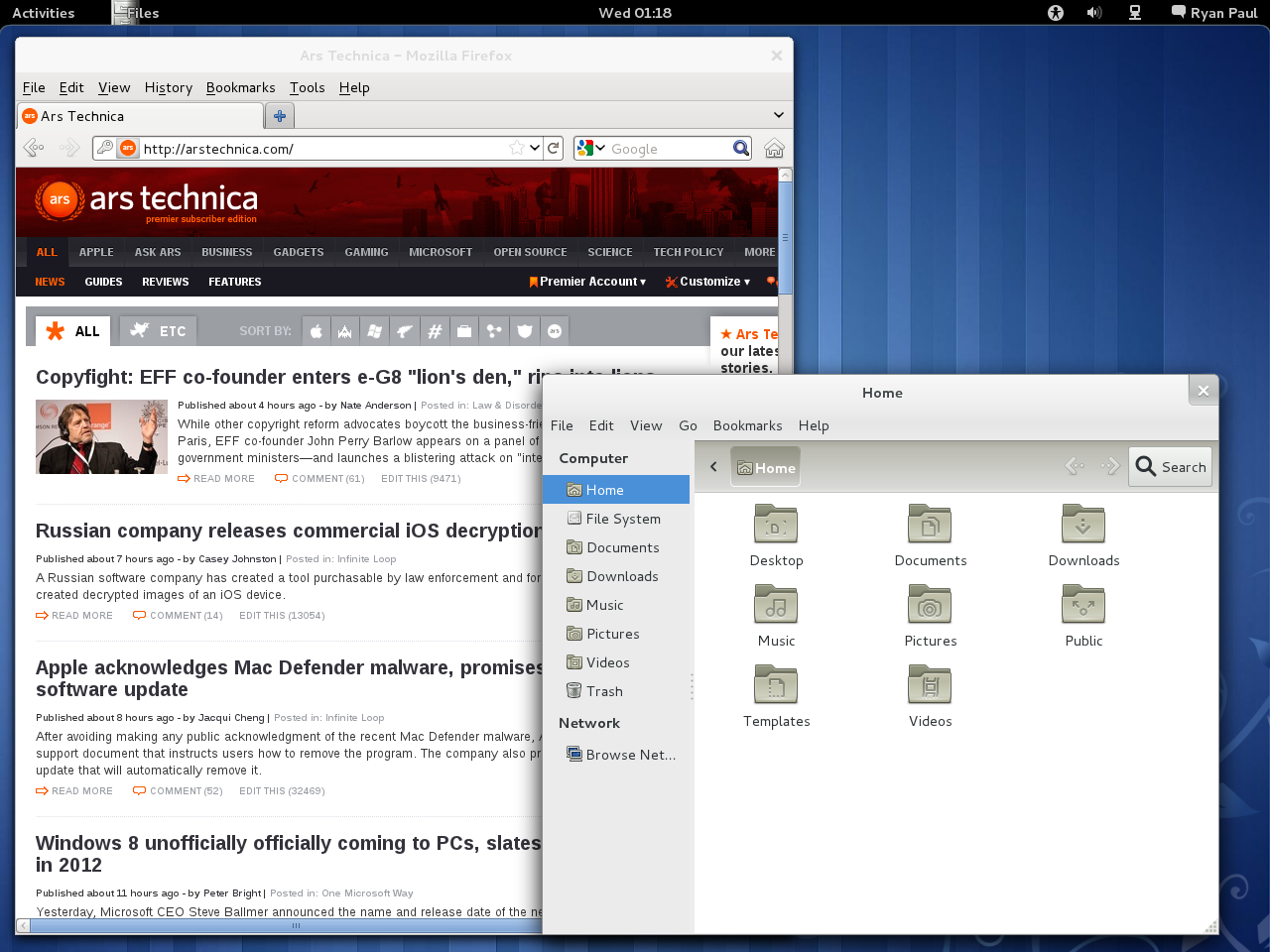 First look: Fedora 15 arrives with GNOME 3.0 and systemd