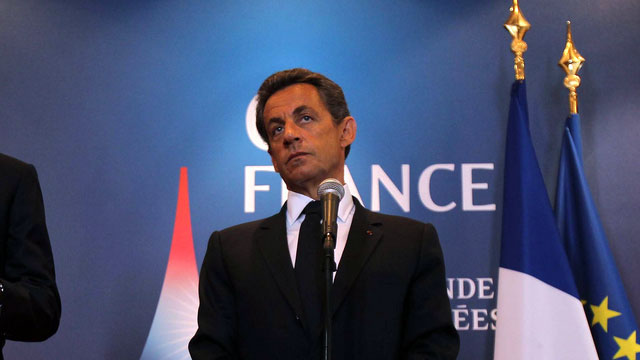 French Pres. Nicolas Sarkozy at the 2011 e-G8 meeting.