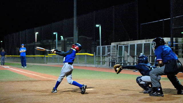Night owls see 45 point batting average boost under the lights