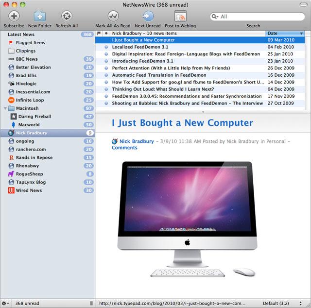 Mac RSS champ NetNewsWire sold to Black Pixel, developer moving on
