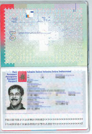One of the scanned passports obtained by Anonymous