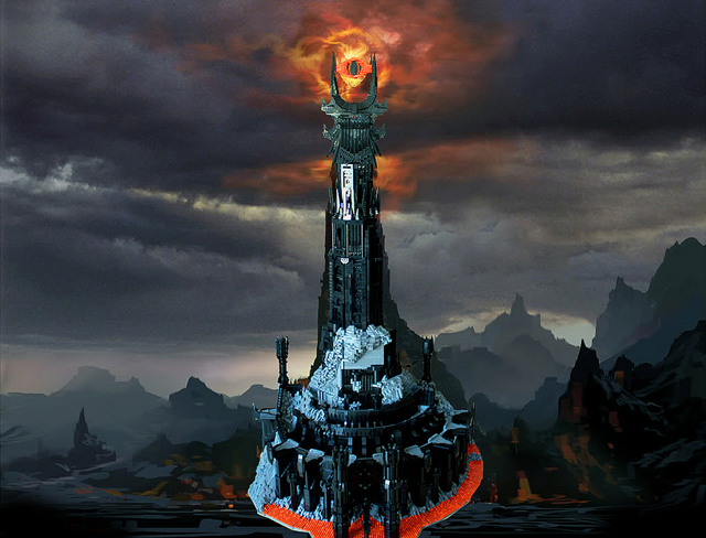 The Lego Barad-dûr: 50,000 pieces, 2 months to build, pure awesome