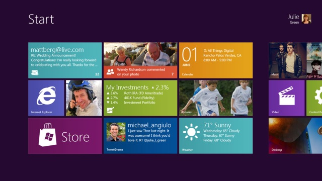 Microsoft gives the first official look of Windows 8 touch interface